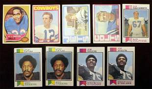 (9) 1970's Topps Football Rookie Cards