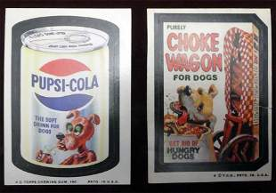 (10) 1970's Wacky Packages with RARES!