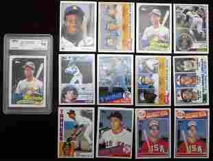 (13) 1980's Key Baseball Rookie Cards