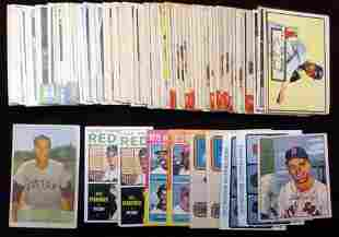 Boston Red Sox Card lot of 110+ 50's-60's