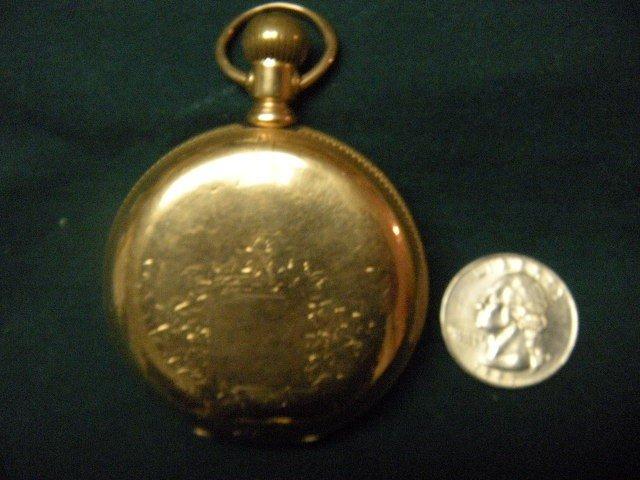 "6: Illinois Watch Co. """"Railroader"""" 14K Gold Pocket Wa"
