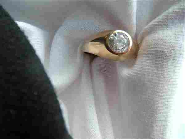 Approx 1.2 Carat Old Miner's Cut Diamond in 10K Sett