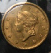 8: 1852 U.S. Gold Dollar Coin