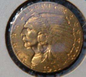 9: 1911 Gold 2 1/2 Dollar U.S. Gold Coin