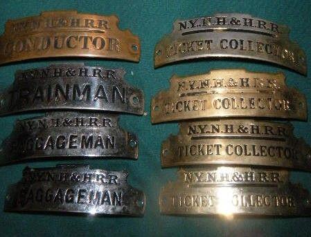 New York, New Haven & Hartford Railroad Hat Badges