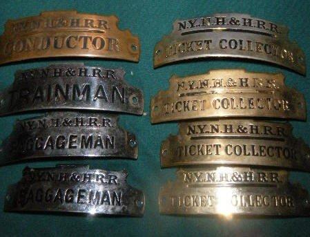 21: New York, New Haven & Hartford Railroad Hat Badges