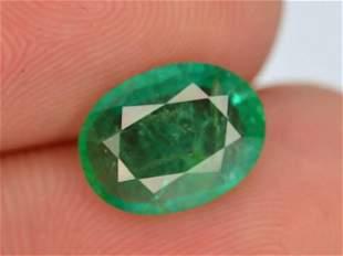AAA Grade Top Color 1.40 ct Zambian Emerald