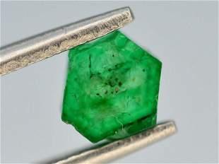 AAA Grade 0.80 ct Natural Emerald Slice ~ Swat