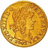 1642 Louis XIII France Gold Coin