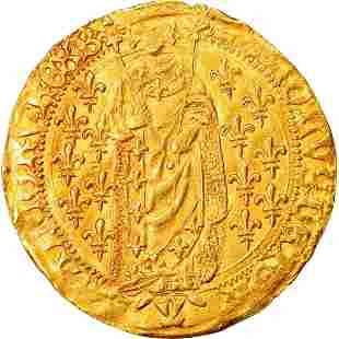 1420 Charles VII France Gold Coin