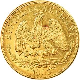 1903 Pesos Mexico Gold Coin