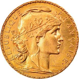 1908 Marianne France Gold Coin