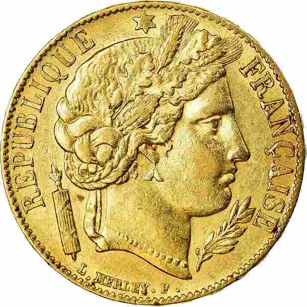 1851 Ceres France Gold Coin
