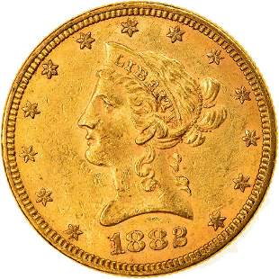 1882 Coronet Head United States Gold Coin