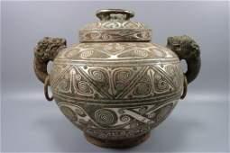 chinese bronze ware jar pot