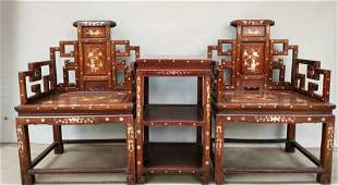 chinese huanghuali wood chairs and table