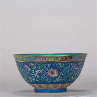 chinese famille rose porcelain bowl