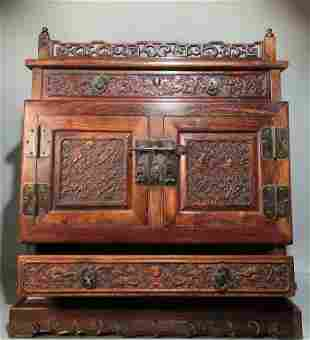 chinese huanghuali wood cabinet