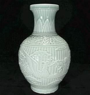 chinese light blue porcelain vase