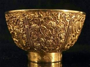 chinese gilt bronze bowl