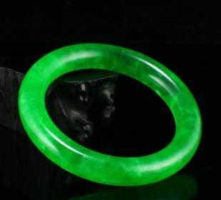 chinese A+++ green jadeite jade bangle
