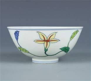 chinese doucai porcelain bowl