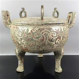 chinese bronze ware tripod censer