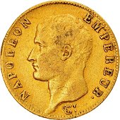 1814 Napoleon I 20 Francs Paris Gold Coin