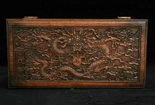 Chinese huanghuali wood jewelry box