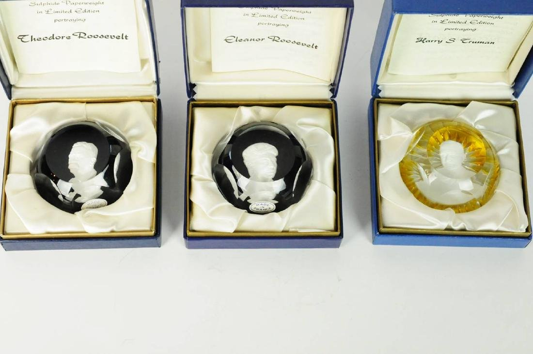 3 Baccarat Crystal Paperweights with Boxes - 9