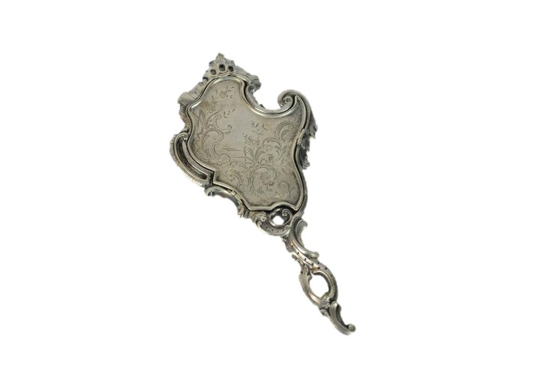 Sterling Silver French Antique Hand Mirror