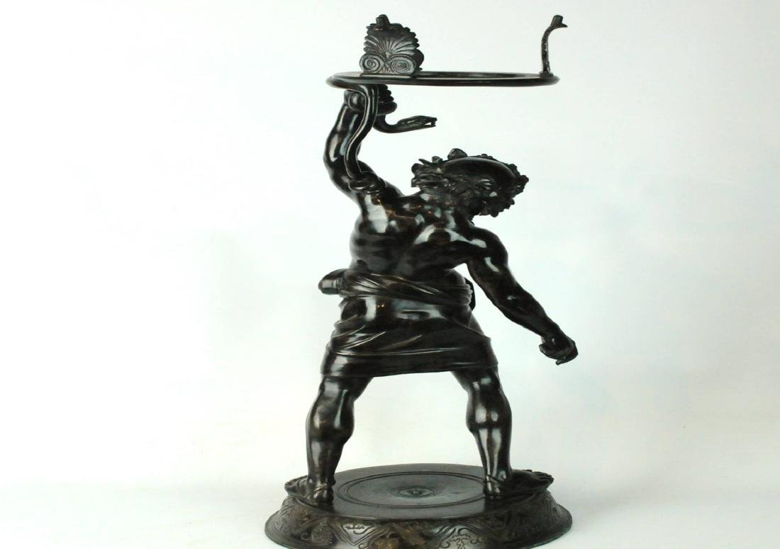 Large Bronze Bacchus Planter / Stand - 5