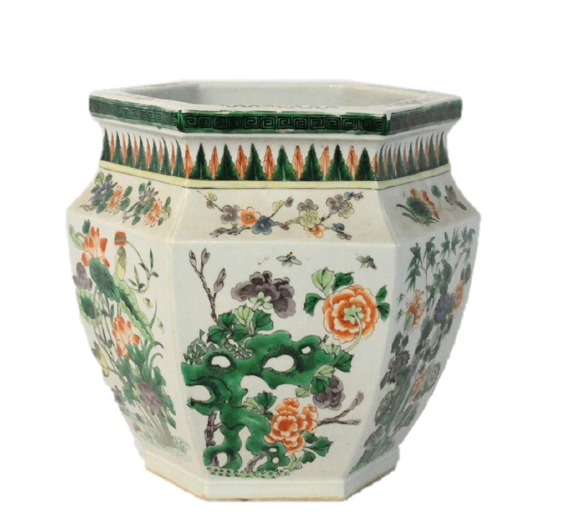 Chinese Jardiniere Large Floral Planter