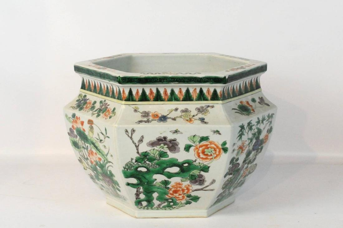 Chinese Jardiniere Large Floral Planter - 4