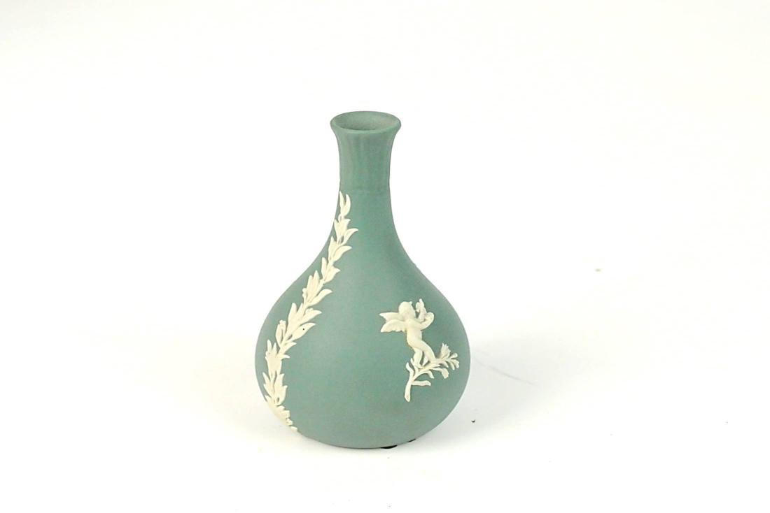3 Wedgwood Jasperware Bud Vases Trinket Box - 5