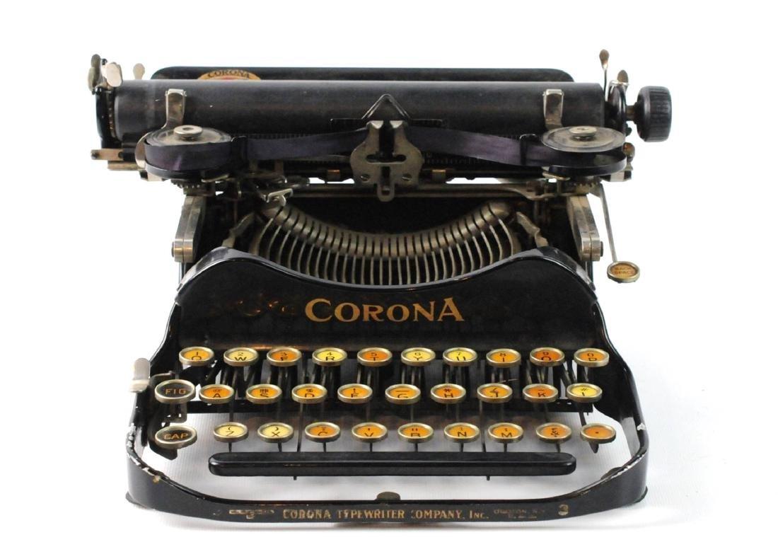 Antique 1917 Corona Foldable Portable Typewriter