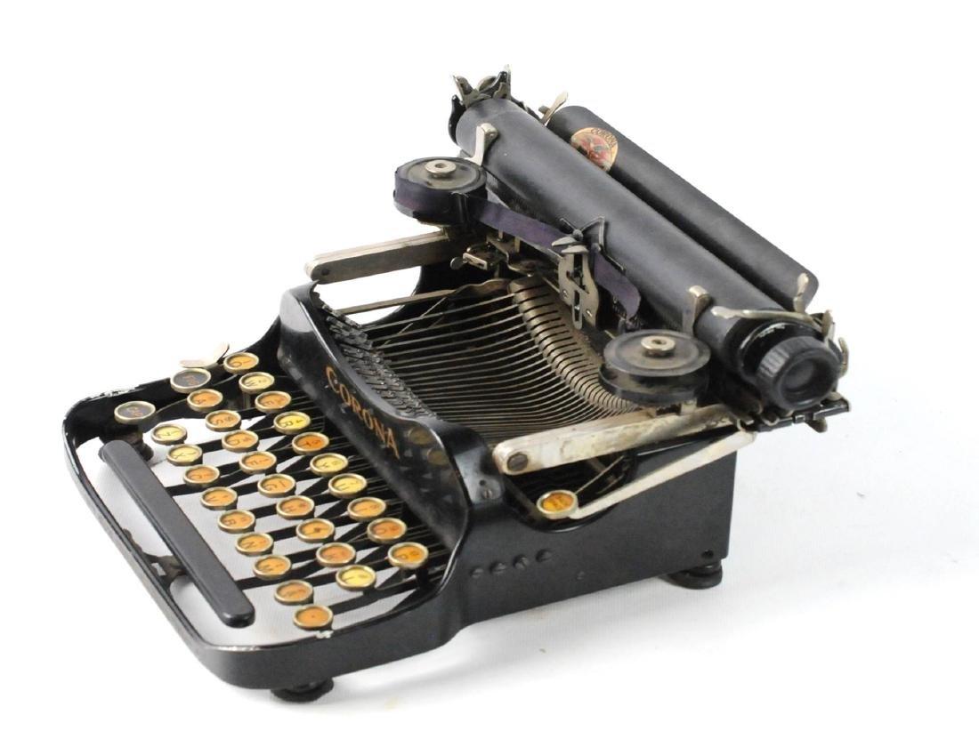 Antique 1917 Corona Foldable Portable Typewriter - 2