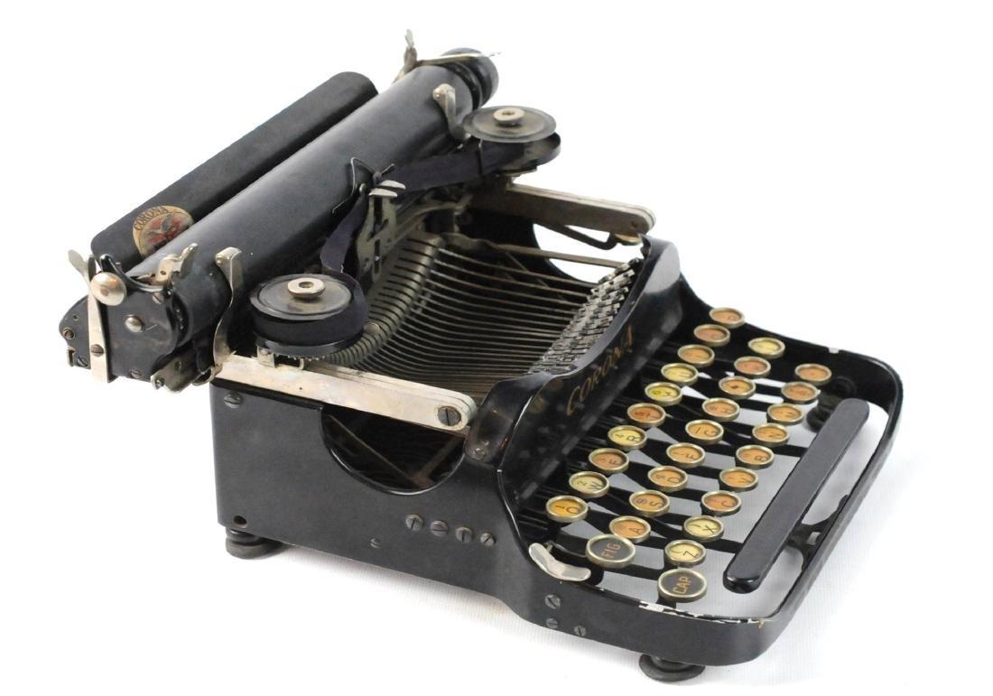 Antique 1917 Corona Foldable Portable Typewriter - 6