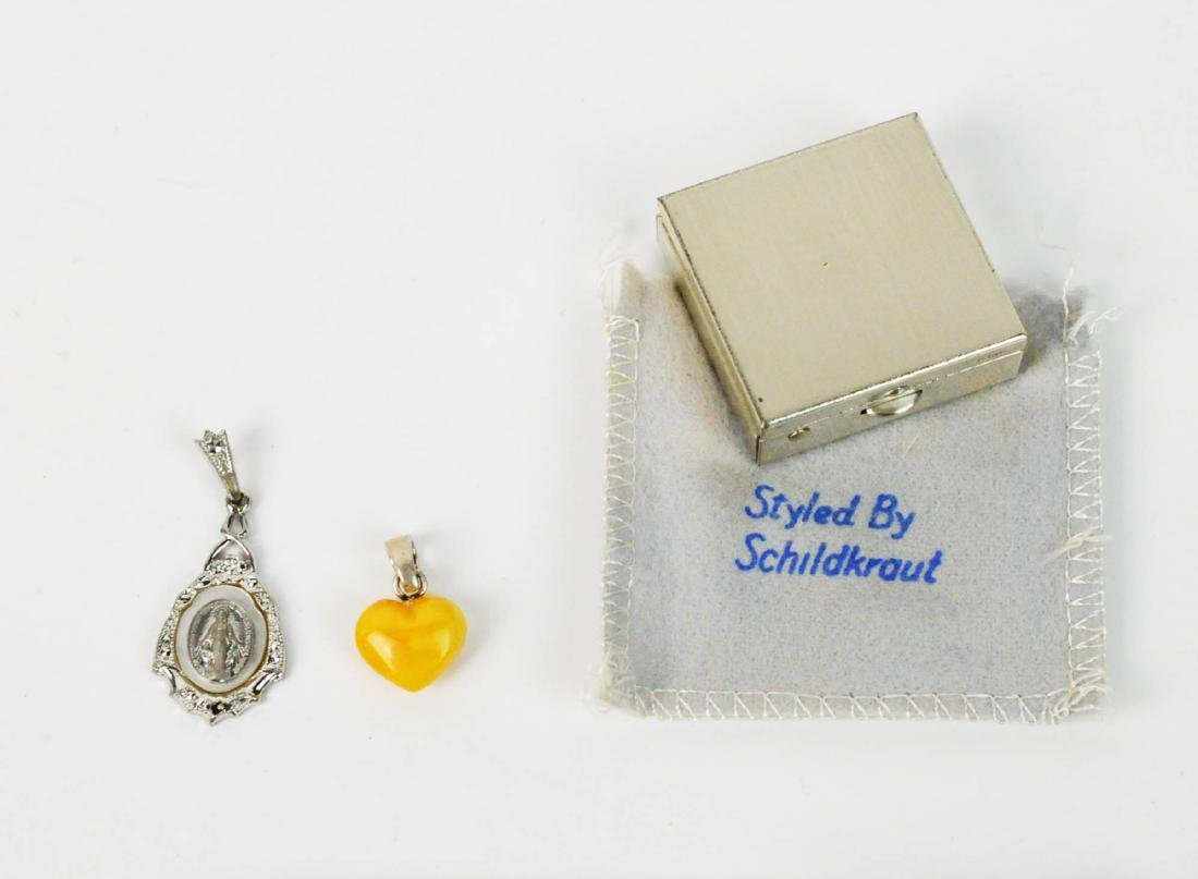 Sterling Silver LOT Chains, Pill Box, Earrings - 2
