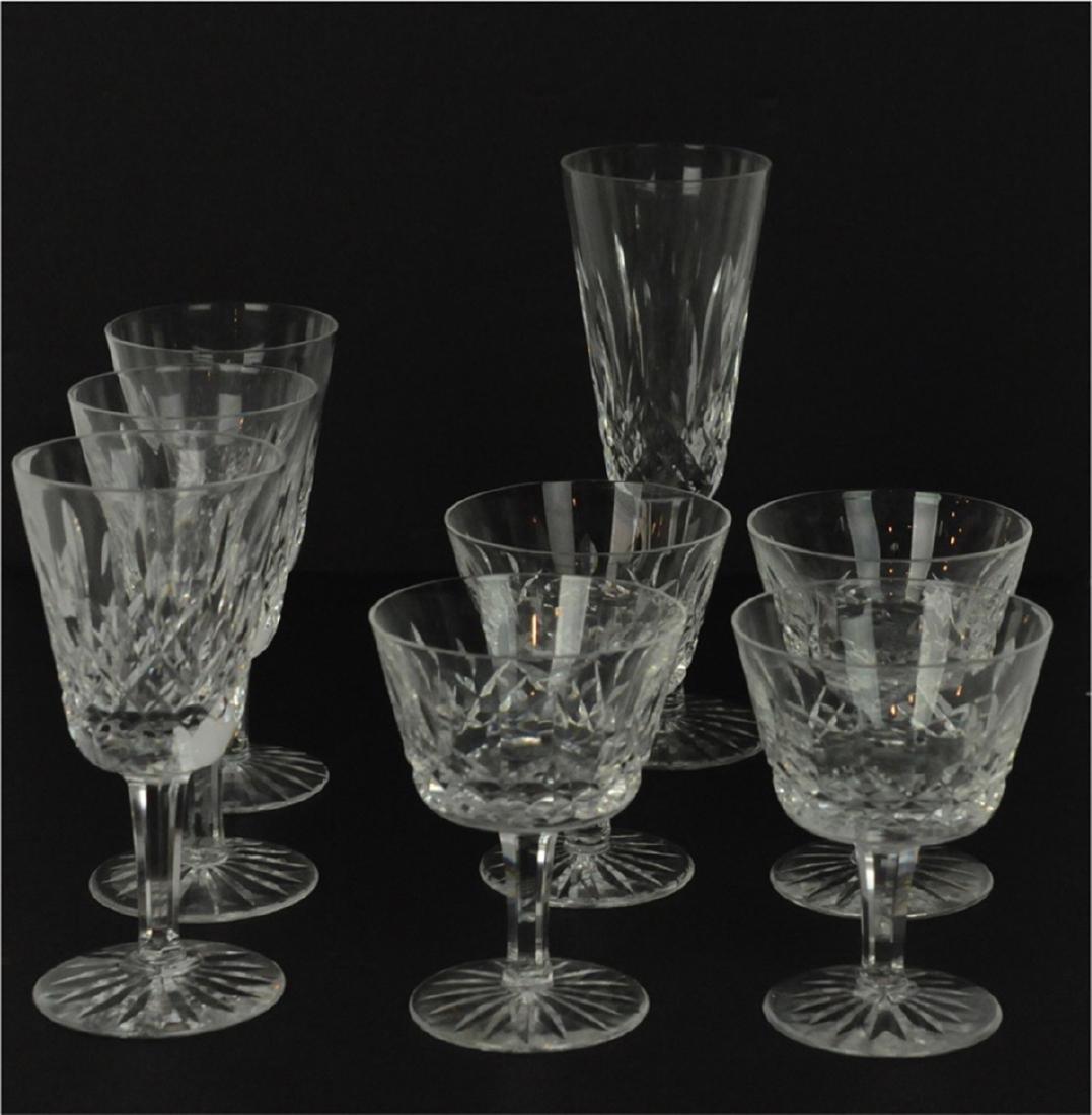 7 Waterford 4 Claret, 3 White Wine Glasses Lismore