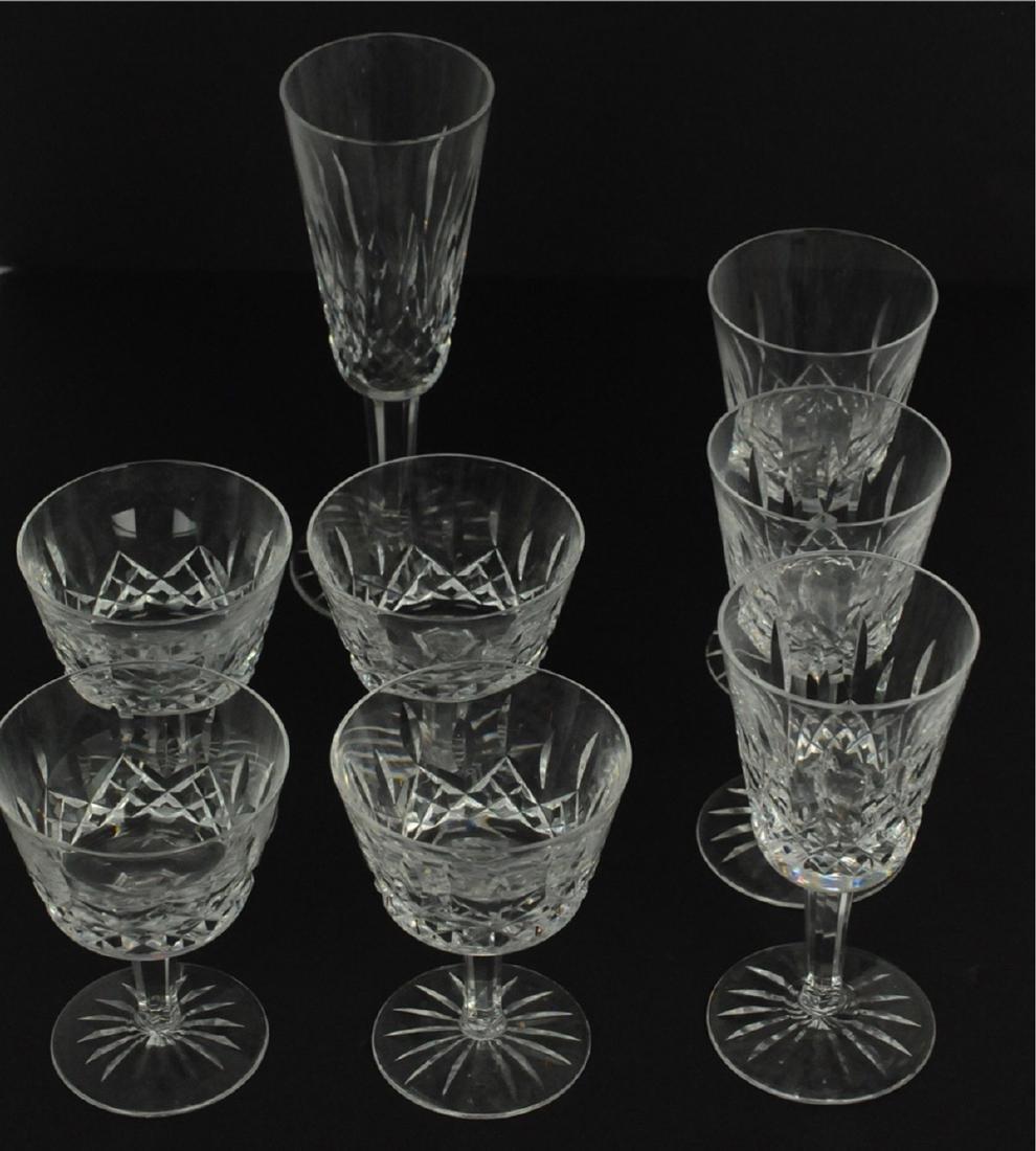 7 Waterford 4 Claret, 3 White Wine Glasses Lismore - 2