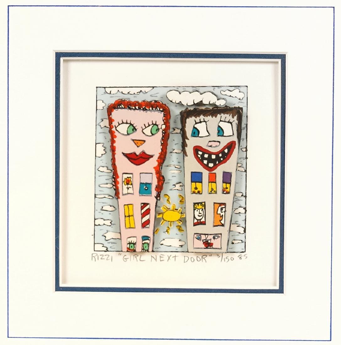 James Rizzi 3-D Serigraph 'Girl Next Door'