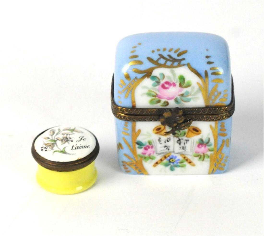 2 Limoges Mini Boxes Scent Box
