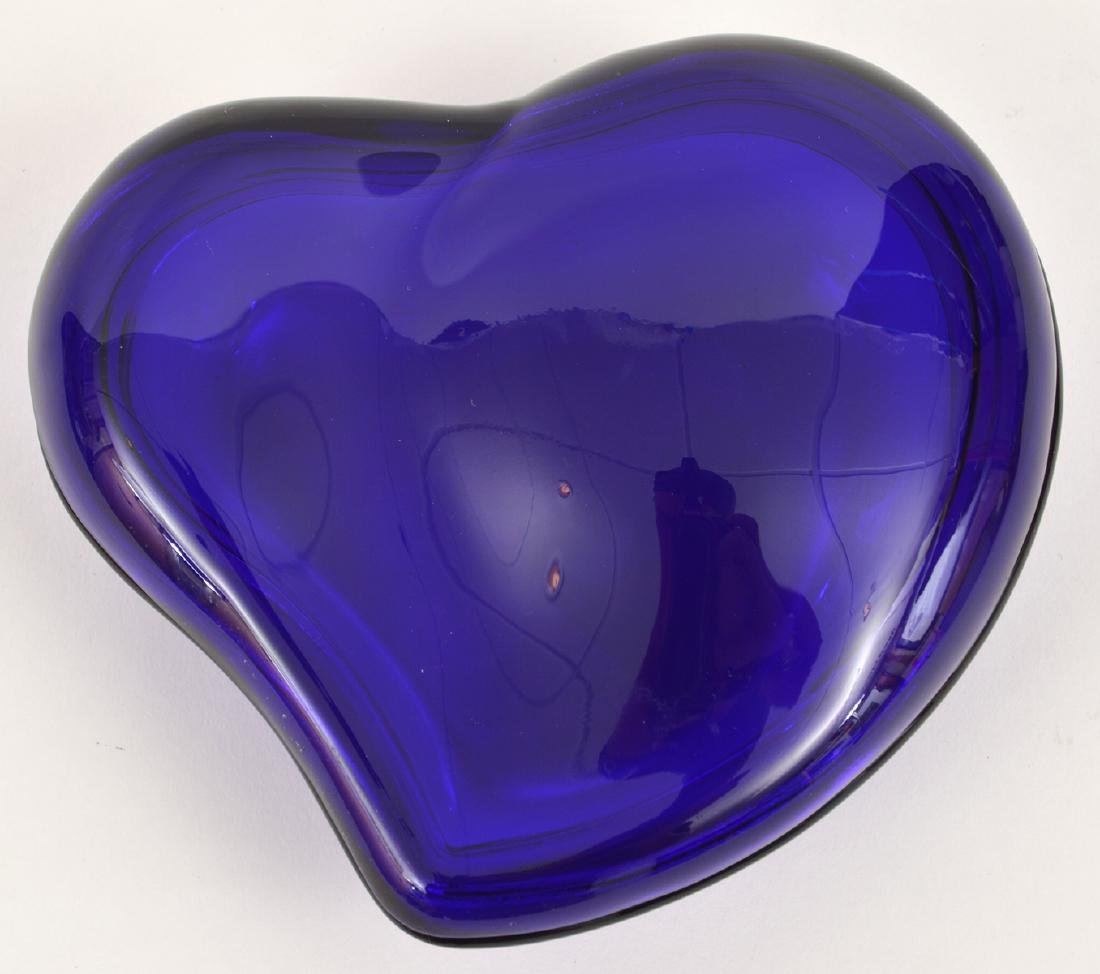 Elsa Peretti Cobalt Blue Glass Heart Lidded Box - 4