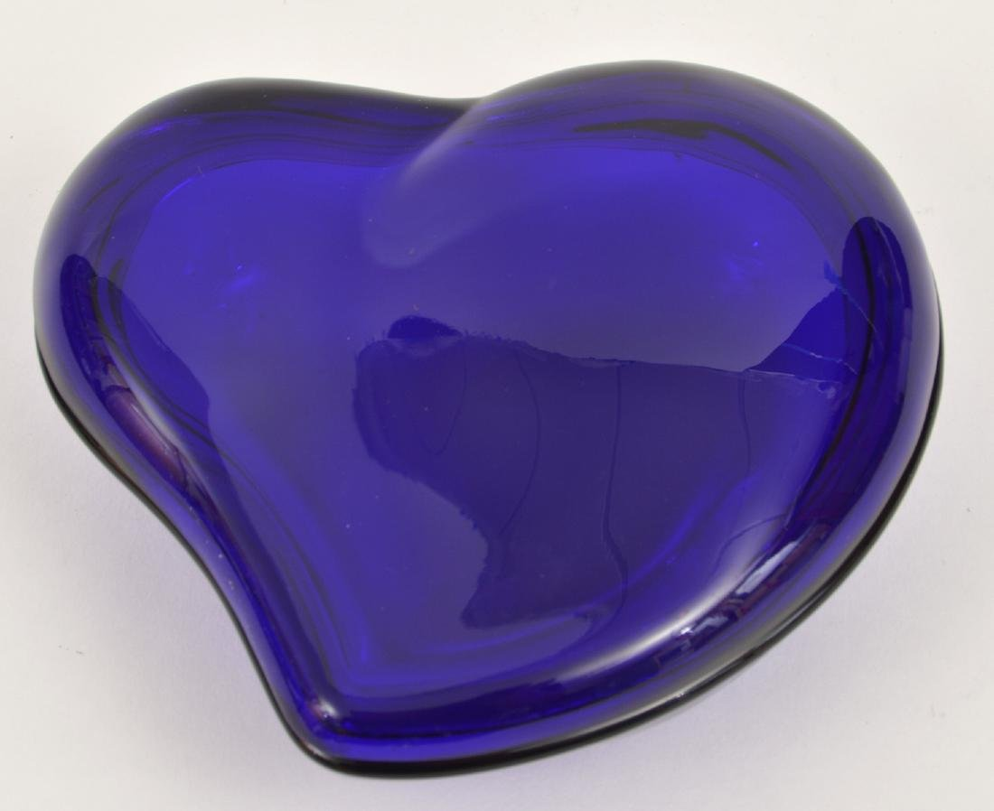 Elsa Peretti Cobalt Blue Glass Heart Lidded Box - 5