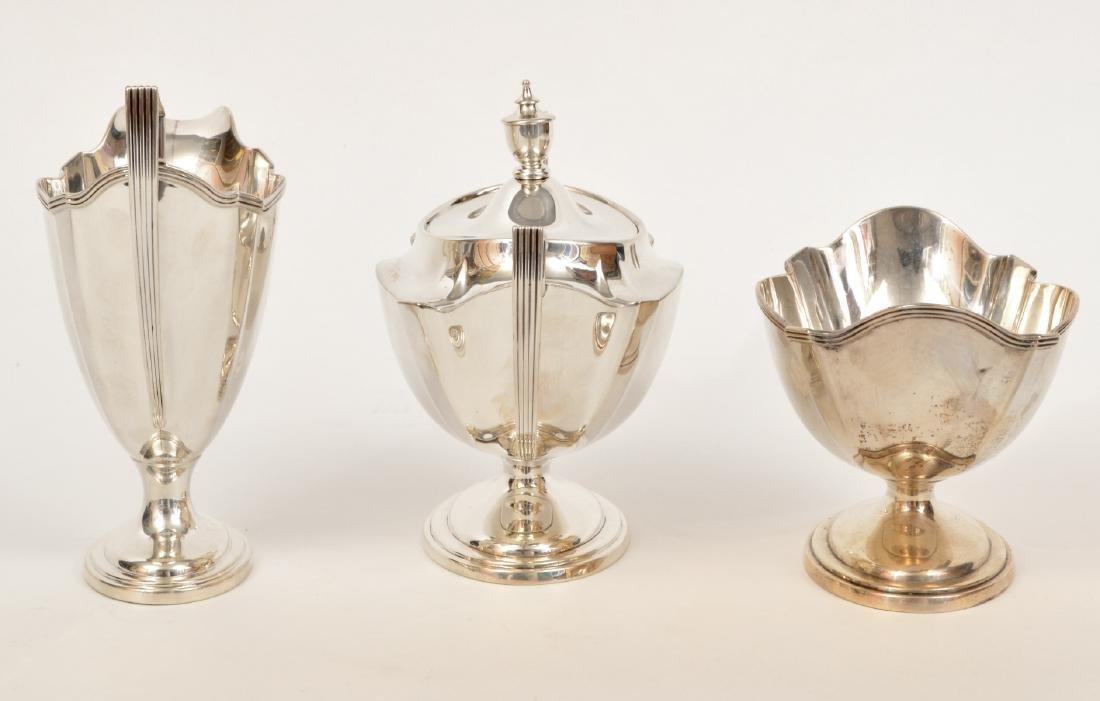 Gorham Sterling Silver Coffee & Tea Set - 3