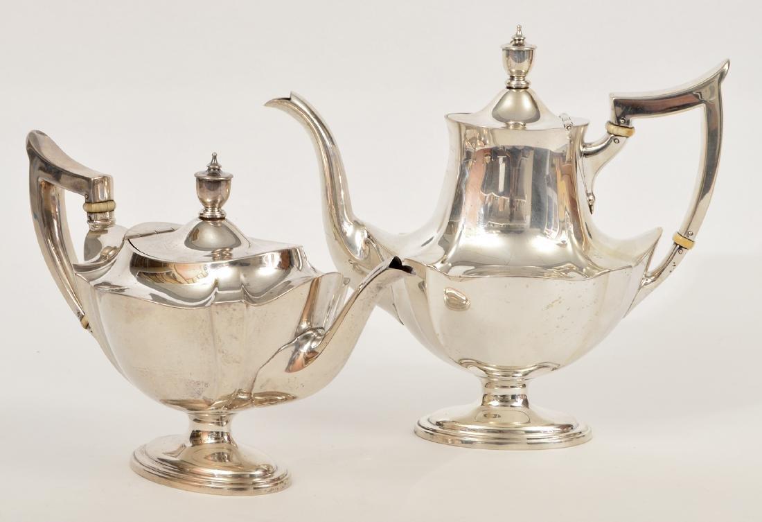 Gorham Sterling Silver Coffee & Tea Set - 7