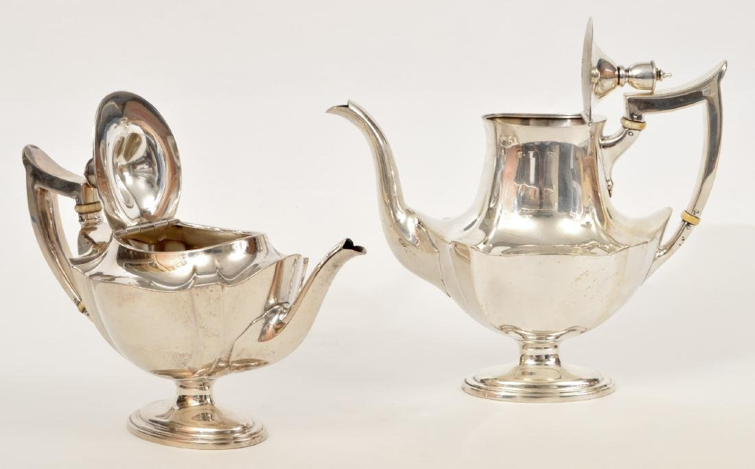 Gorham Sterling Silver Coffee & Tea Set - 8