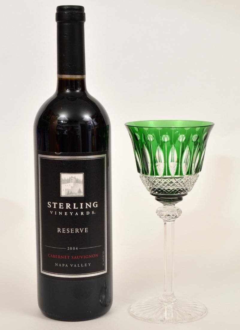 5 Crystal Saint Louis Colorful Wine Glasses - 2
