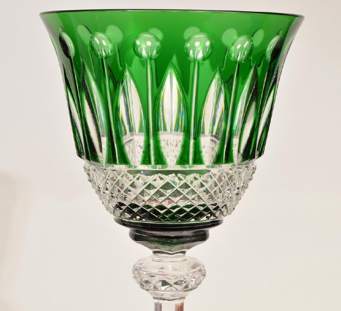 5 Crystal Saint Louis Colorful Wine Glasses - 6